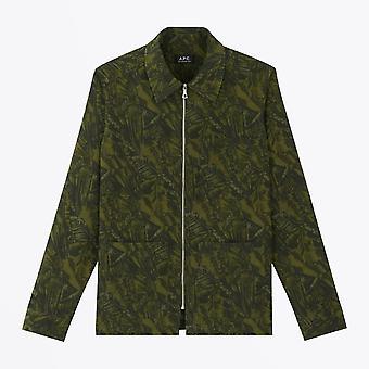 A.P.C.  - Harry Jungle Print Jacket - Khaki/Green