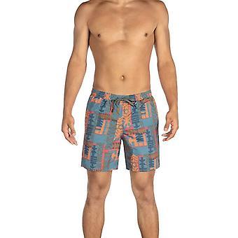 Saxx Underwear Co Cannonball 2N1 Regular Swim Shorts - Patchwork Grey