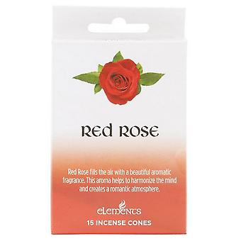 Something Different Elements Red Rose Incense Cones (Pack Of 12)