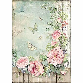 ستامبريا رايس ورقة A4 حديقة الورود مع سياج