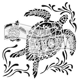 The Crafter's Workshop Sea Turtles 6x6 Inch Stencil