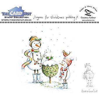 The Card Hut Snowboots: Vem som helst för julen Pudding Tydliga frimärken