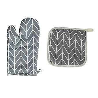 Home kitchen oven gloves and insulation pads high temperature cooking and anti-scalding protection