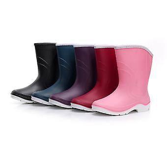 Kontai Women&s Buty 1701-purpl39 Gumowe buty przeciwdeszczowe z zamkniętym toe Mid-Calf