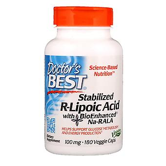 Doctor's Best, Stabilized R-Lipoic Acid with BioEnhanced Na-RALA, 100 mg, 180 Ve