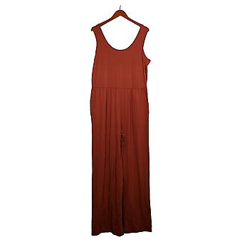 AnyBody Jumpsuits Cozy Knit Tank Jumpsuit Clay Orange A374515
