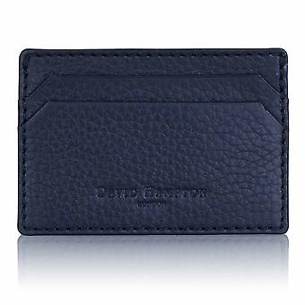 Midnight Blue Richmond Leather Slim Card Holder