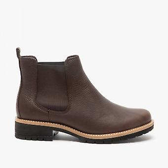 ECCO Elaine Ladies Leather Chelsea Boots Mocha