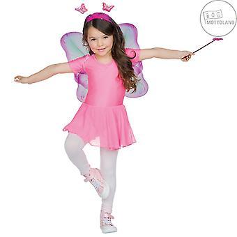 Butterfly Set 3pcs. Bambini Ragazza Ali Farfalla Fascia Peluche Carnevale