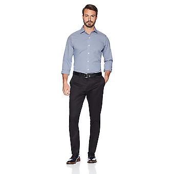 BUTTONED DOWN Men's Slim Fit Stretch Non-Iron Dress Chino Pant, Black, 32W x ...