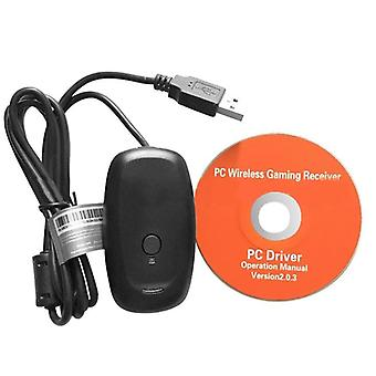 Wireless Gamepad Pc Adapter Usb Receiver For Microsoft Xbox 360 - Game Console Controller Receiver With Cd
