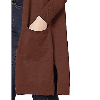 Brand - Daily Ritual Women's Lightweight Duster Cardigan, Burgundy, X-...