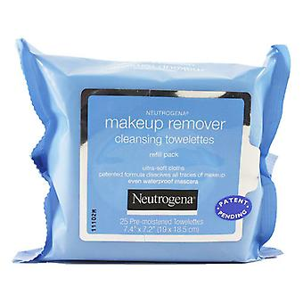 Neutrogena make-up remover cleansing towelettes refill pack, 25 ea *