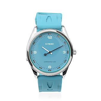 KYBOE Japanese Movement 100M Water Resistant Tile Blue LED Watch Stainless Steel