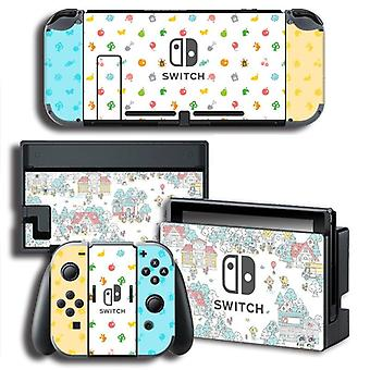 Vinilo Screen Skin-animal-crossing Protector-stickers Para Nintendo Switch Ns Console + Controller + Stand Holder Skins