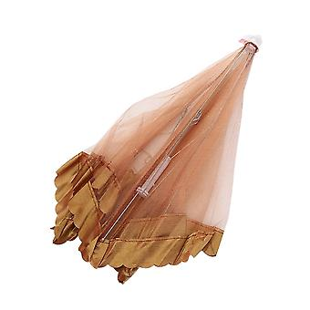 50x50x30cm Lace Mesh Food Cover Tents Brown Outdoor Picnic