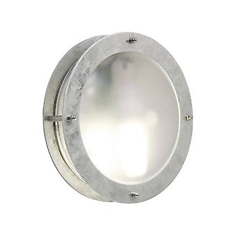 1 Light Outdoor Wall Light Galvanised IP54, E27