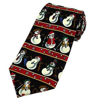 Krawatten Planet Schneemänner Neuheit Weihnachten Krawatte