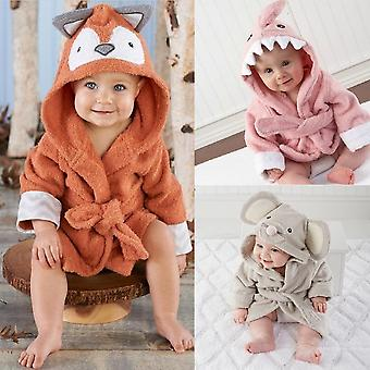 Baby Hooded Badjas Cute Animals Design Ultra Soft Pyjama Pasgeboren Slaapkleding