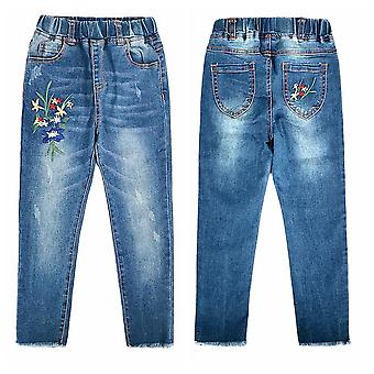 Chumhey Jeans, Spring Cotton Stretchy Soft Denim Pants- Kids Trousers