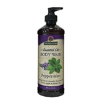 Nature's Answer Essential Oil Body Wash, Peppermint 16 Oz