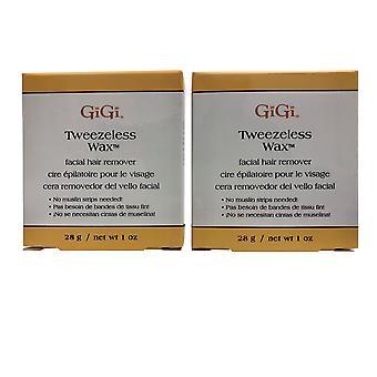 GiGi Microwave Tweezless Wax Facial Hair Remover 1 OZ Pack of 2