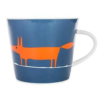 Scion Mr Fox Mug, Denim & Orange