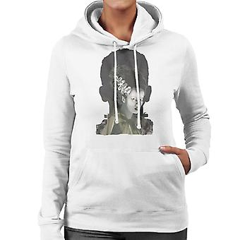 The Bride Of Frankenstein Head Women's Hooded Sweatshirt