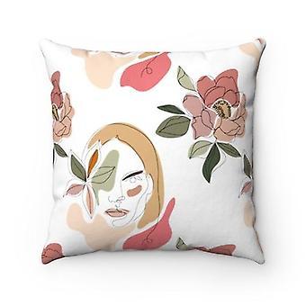 Stoic Woman Square Pillow