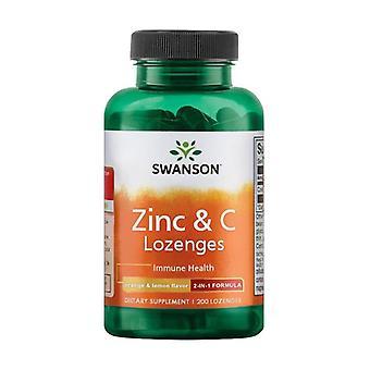 Zinc & C Lozenges Orange & Lemon Flavor 200 tablets