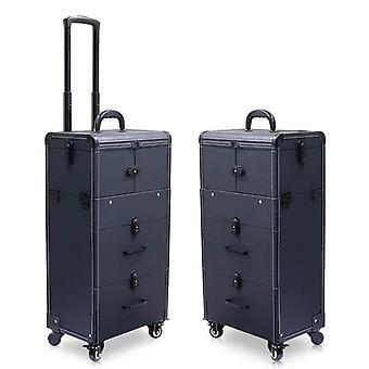 Große Kapazität Trolley Kosmetiktasche rollenGepäcktasche, Nägel Make-up Toolbox,