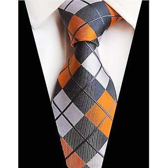 New Design Paisley Plaid Jacquard Woven Silk Mens Ties Neck Tie Striped Ties
