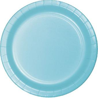 Creative Converting Plastic Dinner Plates, Pastel Blue, 24/Pack (47157B)