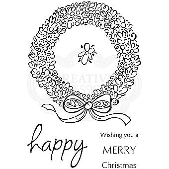 Woodware Clear Stamps - Loopy Wreath