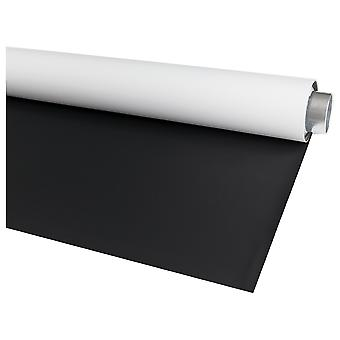 Bessel 2m x 3m domácí studio fotografické vinylové pozadí - oboustranné - matná černá / bílá černá