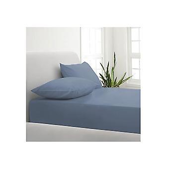 Park Avenue 1000Tc Cotton Blend Sheet Pillowcases Set Double Blue Fog