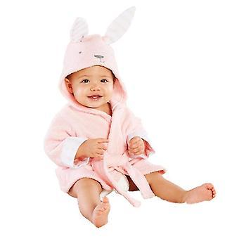 Cute Animal Ears Bathrobe Serviette à capuche Bébé à manches longues Hoodies Belt