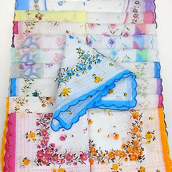 Colorful Handkerchief Antique Floral (handkerchief)