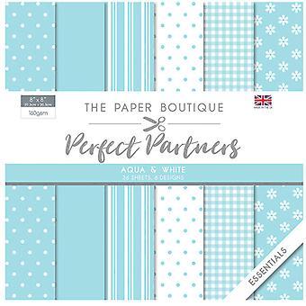 The Paper Boutique - Perfect Partners Collection - 8x8 Paper Pad - Aqua