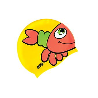Zoggs Junior Silicone Character Swim Cap - Yellow