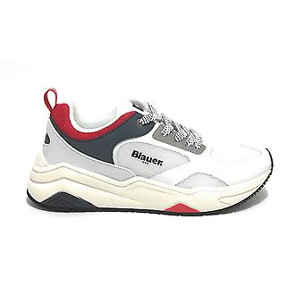 Blauer Sneaker Running Tok In Faux Leather/ White Fabric / Red / Navy Us21bu11