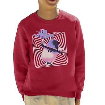 The Magic Roundabout Ermintrude Psychedelic Lines Kid's Sweatshirt
