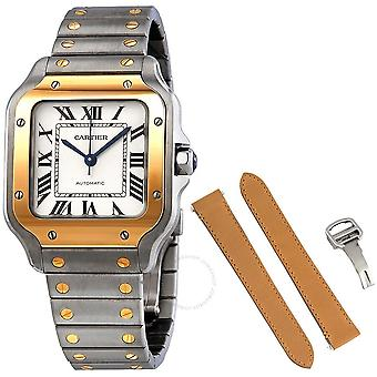 Cartier Santos Automatic Steel and 18kt Yellow Gold Men's Watch W2SA0007