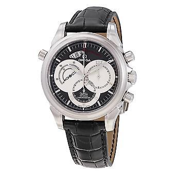 Omega De Ville Co-Axial Rattrapante Chronograph Automatic Grey Dial Men's Watch 4848.40.31