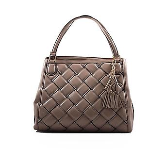 La Carrie Woven Taupe Shopping Bag