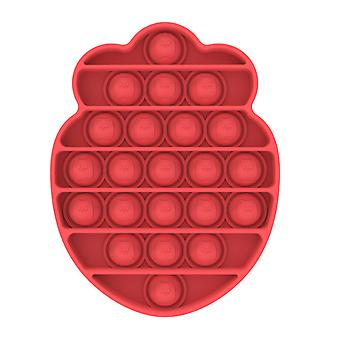 Strawberry shape Pressure Relief Silicone Pressure Relief Toys Squeeze Feel Toys