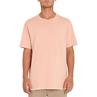 Volcom Hombres's Camiseta ~ Emblema de Piedra Sólida naranja