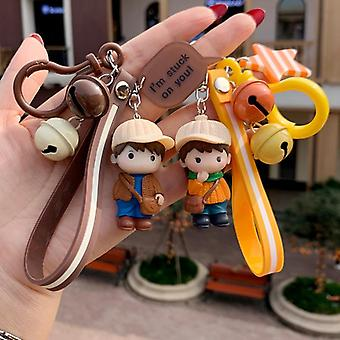 Kawaii Creative Couple Lovers Keychain A Pair Of Cute Men And Women Car Key