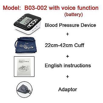 Zd hushåll bärbar sphygmomanometer ; röstsändning lcd digital ; armband typ blodtrycksmätare
