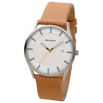 Skagen Unisex analogue watch with leather strap SKW6282